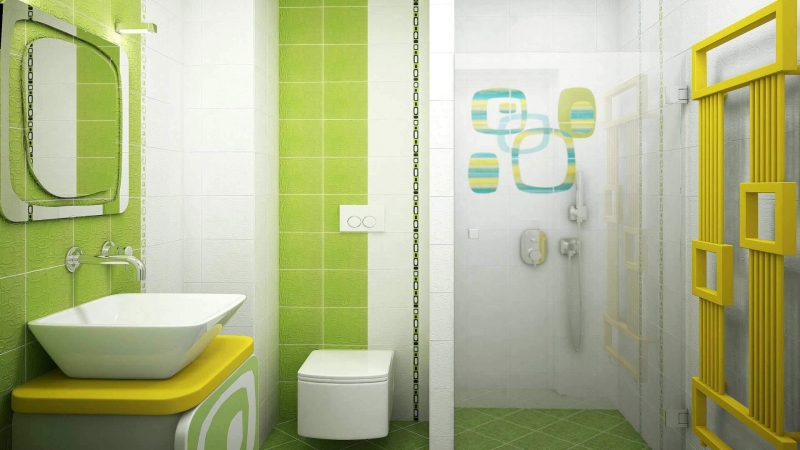 3d bathroom tiles design